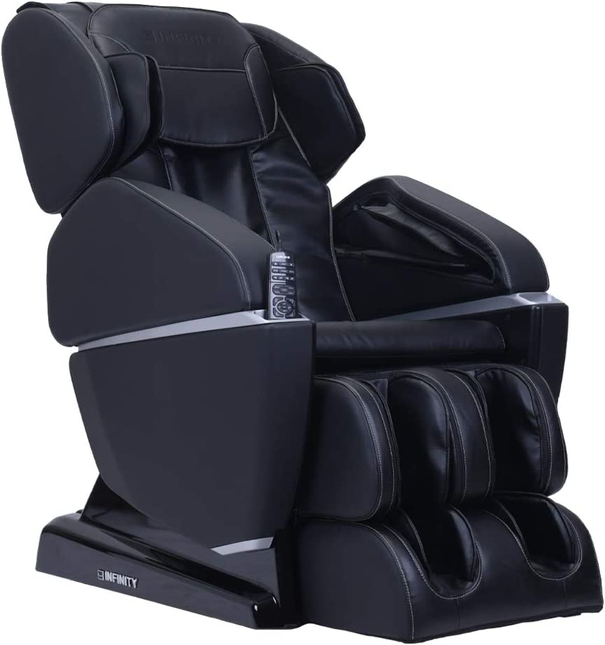 Infinity Prelude Full Body Zero Gravity Massage Chair, Adjustable Air Intensity, Lumbar Heat, Spinal Correction - Black, Includes in Home delivery and Assembly