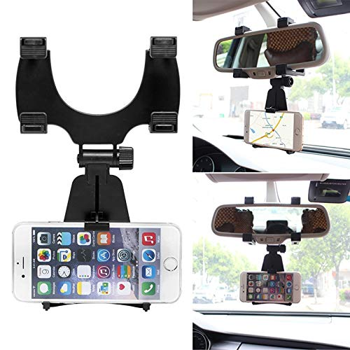[ Daphot - Store ] - Universal Auto Car Rearview Mirror Mount Stand Holder Cradle For Cell Phone GPS