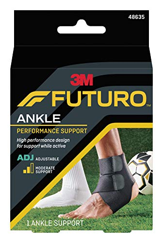 Futuro Sport Moisture Control Ankle Support, Moderate Support, Adjust to Fit