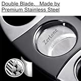 Cigar Cutter Guillotine Stainless Steel Double