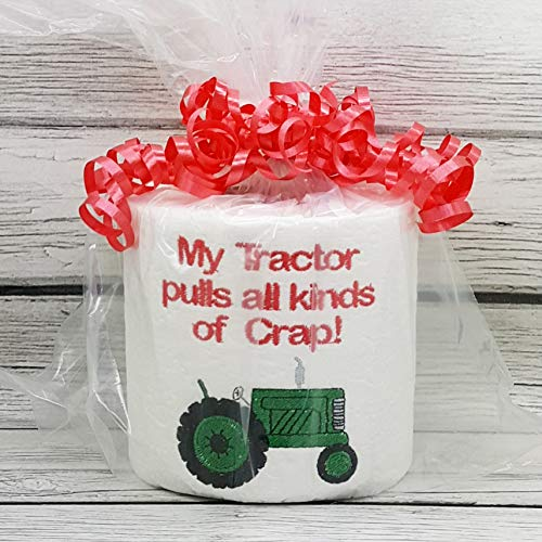 (Farm Tractor Novelty Embroidered Toilet Paper, Funny Joke Prank Gag)