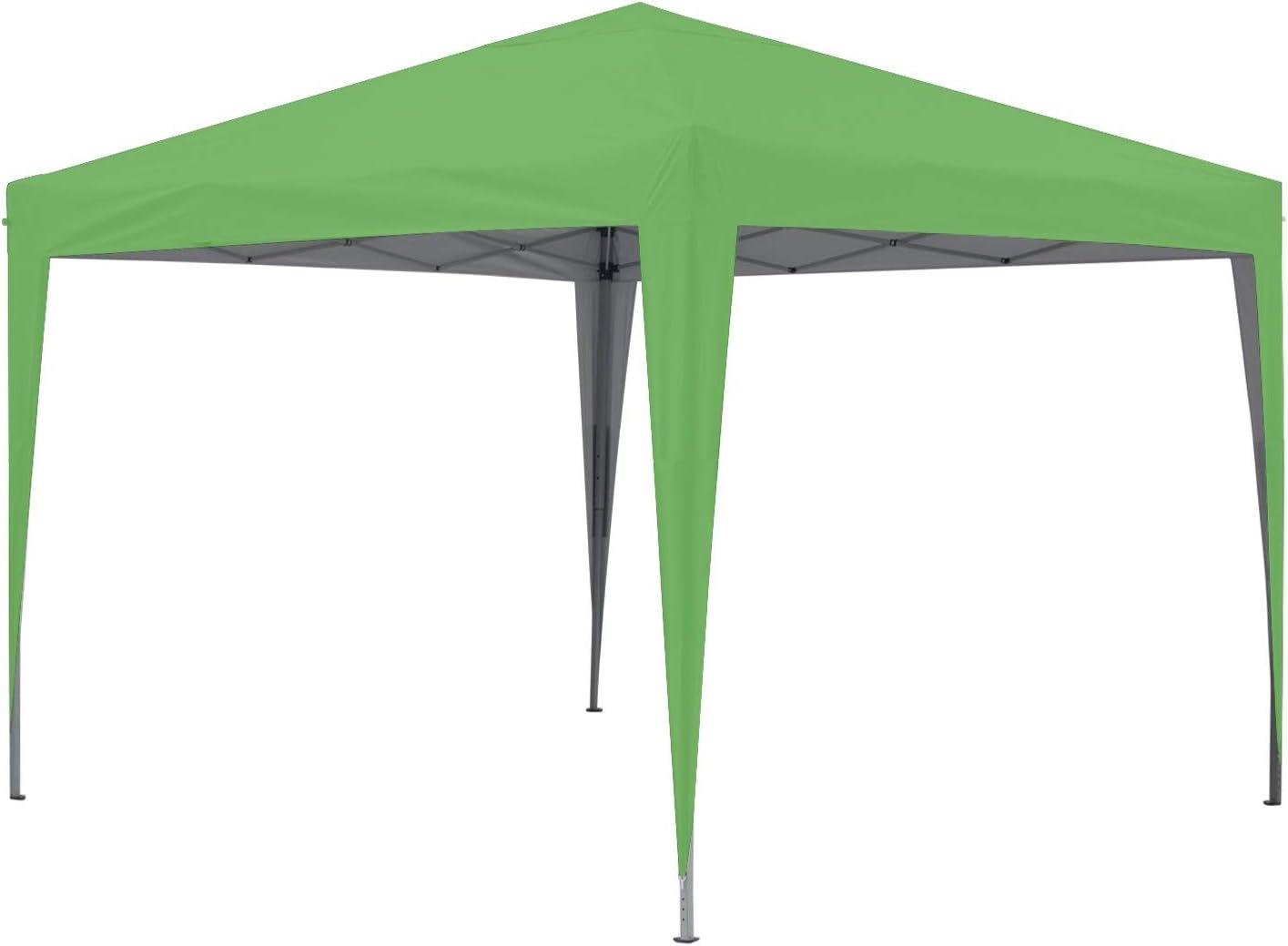 GREADEN - Cenador de jardín verde 3 x 3 m Eco Briso - Tubo 30 mm en aluminio & acero - lona 420d - Tienda de campaña plegable - GR-1FZ33420AO3