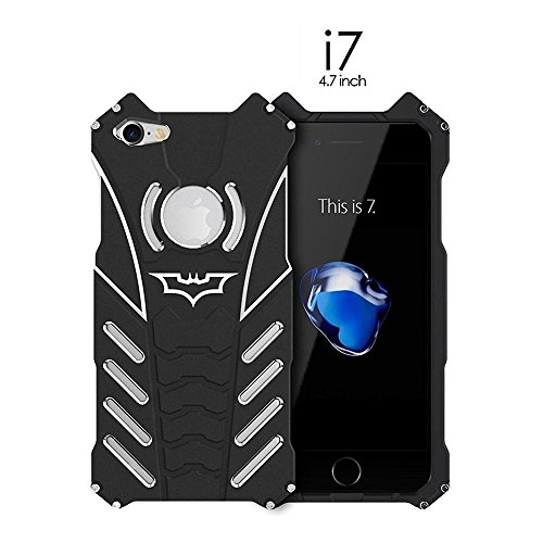 Shockproof Anti-drop Aerospace Aluminum Metal Batman Phone Protect Shell Military Grade Drop Tested Iron Man Bumper Back Cover for Apple iPhone 7 4.7 Inch