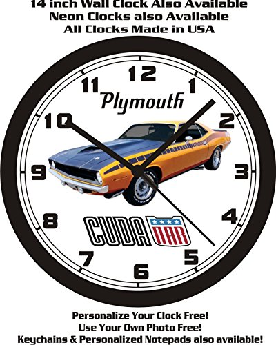 Used, 1970 PLYMOUTH AAR CUDA WALL CLOCK-FREE USA SHIP! for sale  Delivered anywhere in USA