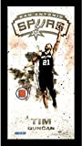 NBA San Antonio Spurs Tim Duncan Player Profile Framed 10 x 20 Photo Collage with Game Used Basketball