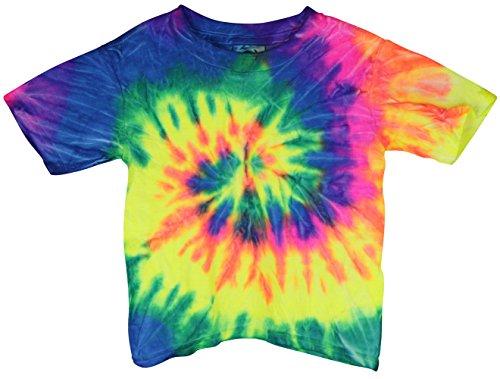 Short Sleeve Tie-Dye T-Shirt - Neon Rainbow - Toddler - Assorted Sizes ((4T)