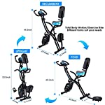 ANCHEER-Cyclette-Pieghevole-con-Supporto-per-Tablet-e-Sedile-Confortevole-Cyclette-da-Interno-con-App-e-10-Livelli-di-Resistenza-Magnetica-Regolabile-capacita-di-Peso-265-LB
