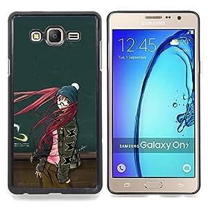 SKCASE Center / Funda Carcasa protectora - Muchacha de la historieta linda del pelo rojo;;;;;;;; - Samsung Galaxy On7 O7