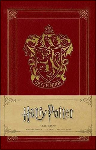 Amazon.com: Harry Potter: Gryffindor Ruled Notebook ...