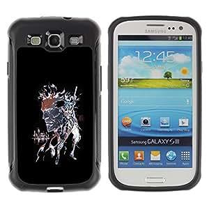 Be-Star único patrón Impacto Shock - Absorción y Anti-Arañazos Funda Carcasa Case Bumper Para SAMSUNG Galaxy S3 III / i9300 / i747 ( Punk Skull Splash )