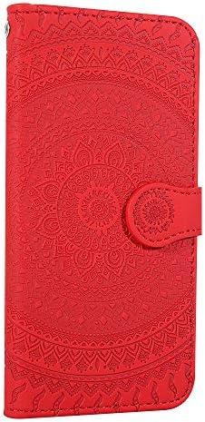 Galaxy S9 Hülle Handyhülle, Premium Leder Flip Schutzhülle[TPU-Schutz] [Standfunktion] [Kartenfächer] [Magnetverschluss] lederhülle klapphülle für Samsung Galaxy S9/G960F - TTHM020378 Rot