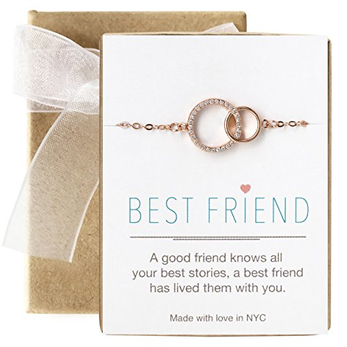 Friendship Circle Of Bracelet (AMY O Friendship Bracelet - Interlocking Circles Bracelet in Rose Gold)