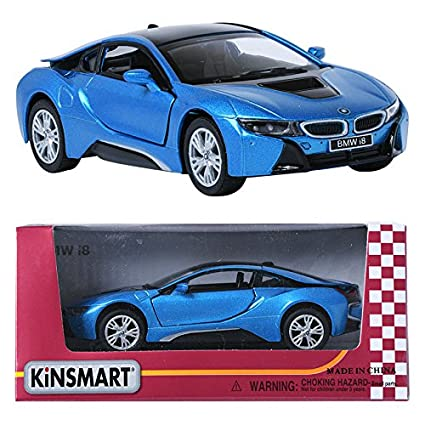 Amazon Com Kinsmart 1 36 Bmw I8 Blue Display Mini Car Miniature Car