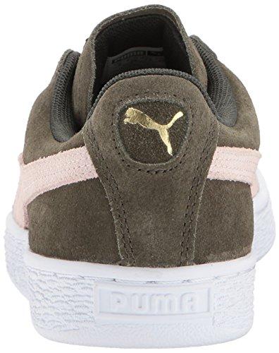 puma M Puma Night veiled Brown Sneaker Cameo B Women's Rose Forest US Classic White Suede WN White T4HwZqT