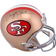 Dwight Clark San Francisco 49ers Autographed Riddell Replica Helmet - Fanatics Authentic Certified - Autographed NFL Helmets