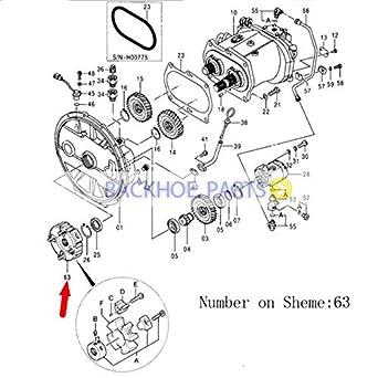 bobcat 863 hydraulic pump diagram amazon com for john deere excavator 790elc 230lc 270lc main  for john deere excavator 790elc 230lc