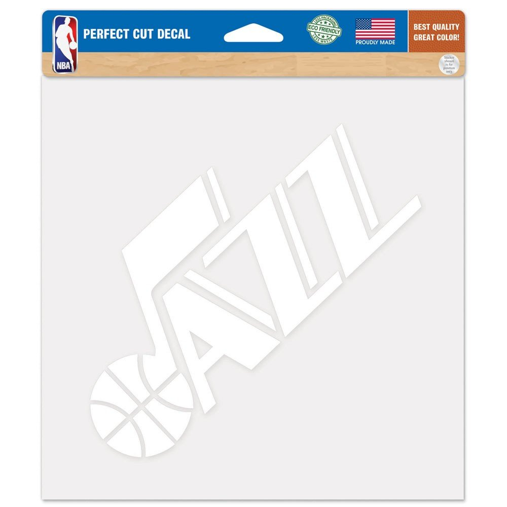 WinCraft Utah Jazz Official NBA 8'' x Automotive Car Decal 8x8 by 297723