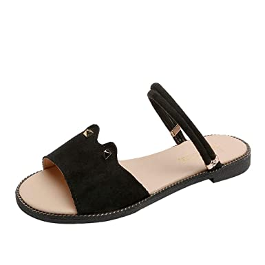 e593e6bde2c31 Amazon.com: Women's Sandals Slippers Summer Buckle with Open Toe ...
