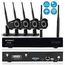 Szsinocam 4 Channel Full HD 1080P Wireless WiFi NVR Network Video Recorder + 4pcs 1080P Megapixels WiFi IP Camera