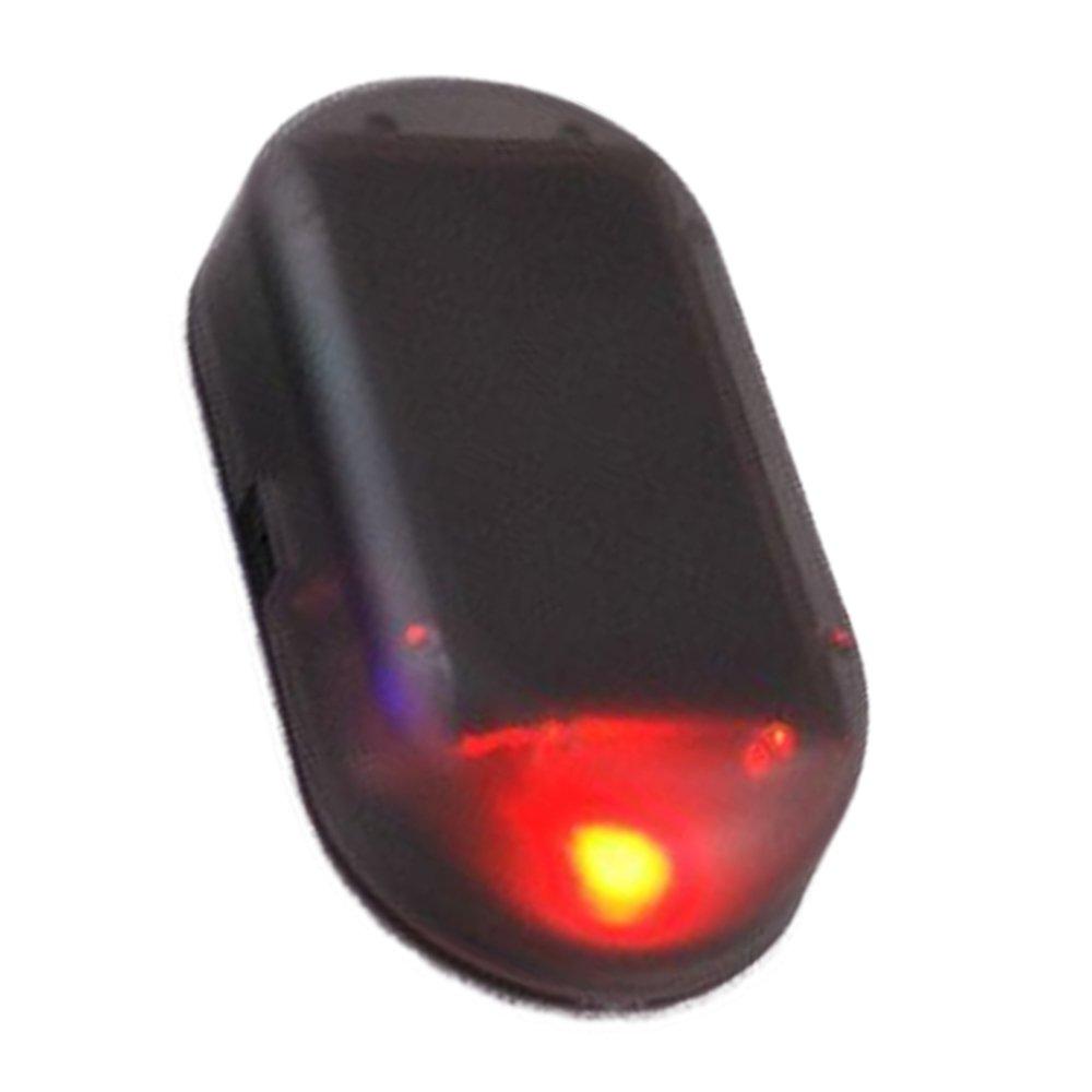 Myhonour Auto Alarmanlage Diebstahlsicherung Attrappe Flash LED Licht Solar Power Anti-Diebstahl Warnleuchten (Rot)