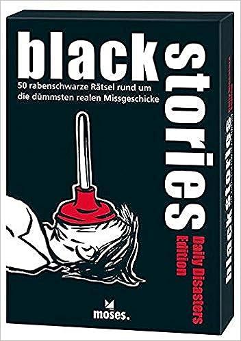 Black Stories - Daily Disasters Edition: 50 rabenblack rabenschwarz Alrededor de los más tristes: Harder, Corinna, Schumacher, Jens: Amazon.es: Juguetes y juegos