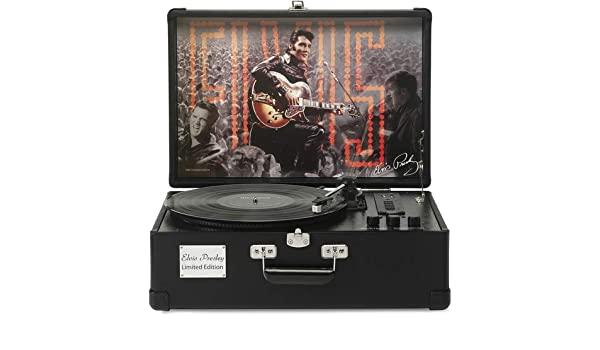 Ricatech Elvis Presley Negro - Tocadiscos (Negro, 33,45,78 RPM, SD ...