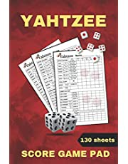 Yahtzee: Score Game Pads Original-130 Score Sheets For Yahtzee Playing-Perfect Size (6 x 9)