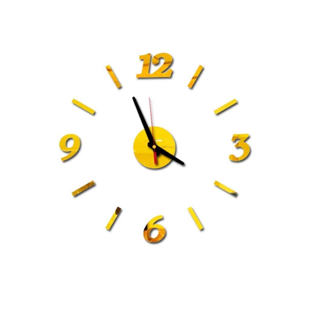 HAISHAO Etiqueta de Reloj de Pared 3D DIY números Romanos acrílico ...