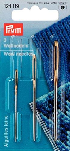 Prym 124119 Woll-und Smyrna-Nadeln ohne Spitze, 1 Stück, ST 1+3 Silber