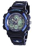 Kids Sports Digital Watch, Boys Girls Outdoor Waterproof Watches Children Analog Quartz Wristwatch (Blue)