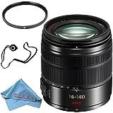 Panasonic Lumix G Vario 14-140mm f/3.5-5.6 ASPH. POWER O.I.S. Lens (Black) + 58mm UV Filter + Fibercloth + Lens Capkeeper Bundle
