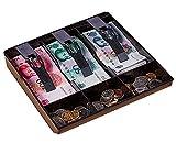 New Cash Coin Register Insert Tray Replacement Money Drawer Storage - Black 3 Bills 3 Coins