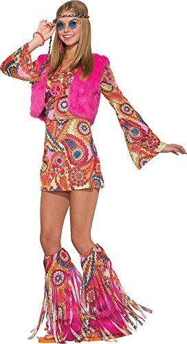 femmes années 1970 Fleur Costume Déguisement hippie fur,rever Groovy  déguisement Amazon.fr Vêtements et accessoires