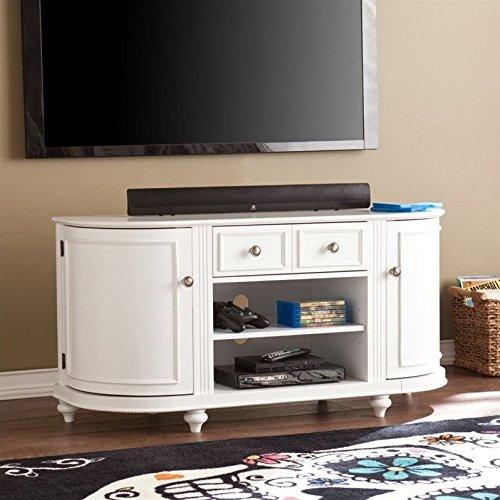 "Southern Enterprises Dandridge 48.5"" TV Stand in White"