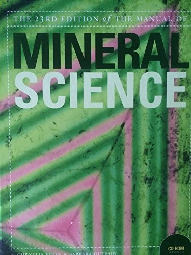 The Manual of Mineral Science, 23rd Edition, CD Included
