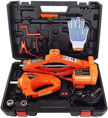 YBS 2T Autoelektrik Jack Elektro Wrench Set 12V DC Auto-Elektro-Jack Lifting Auto SUV Notausrüstung, mit Schlagschrauber, Auto-Reparatur-Werkzeuge