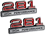 2007 ford f150 emblem decal - 281 4.6 Liter High Performance Engine Emblems in Chrome & Red Trim - 4