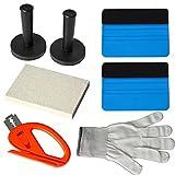 Ehdis® Car Window Tint Vinyl Wrap Tool Kits: Felt Squeegee, Magnet Holder, Snitty Vinyl Cutter, Wool Squeegee, Gloves
