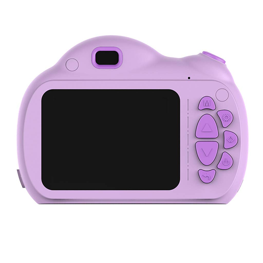 Gunel Kids Digital Camera for Age 3-10,Toddler Cameras Child Camcorder Mini Cartoon Rechargeable Camera Shockproof 1080P HD Children Video Record Camera (Purple)