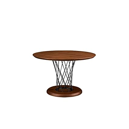 Overstock Luca Home Round Walnut Dining Table