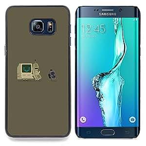 Stuss Case / Funda Carcasa protectora - Gray Computer Es Nerd Tech Vintage - Samsung Galaxy S6 Edge Plus / S6 Edge+ G928