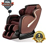 Facial Tissue Box Cover - Full Assembled Long S-Track Rail Massage Chair Body Scanning Zero Gravity Full Body Recliner with Heat Roller Kneading Vibration Stretch