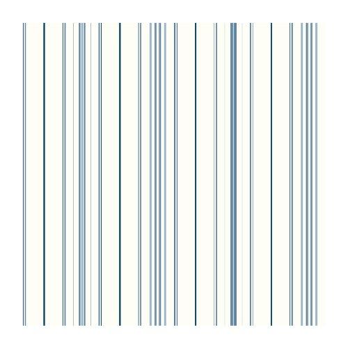 Light Wallpaper Blue Stripe (York Wallcoverings SA9111 Brothers and Sisters V Wide Pinstripe Wallpaper, White/Light Blue/Medium Blue/Dark Blue)