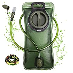 If you are looking for effective hydration bladder, Look no further. Notice our patented military grade water bladder, featuring advanced LEAK PROOF technology!  Capacity: 2L  Color: Army Green Empty Size: L 14.2'' x W 6.8'' Mouth Diameter: 3...