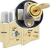 Platte River 939231, Hardware, Locks And Latches, Cylinder Locks, Horizontal Deadbolt For Overlay Doors