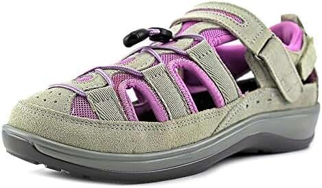 Orthofeet Naples Womens Comfort Extra Depth Orthopedic Arthritis And Diabetic Leather Sandal