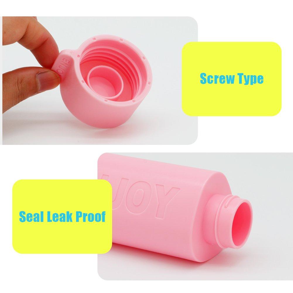 Trinkflasche Wasserflasche Auslaufsicher BPA Frei für Outdoor, Sport, Schule, Fitness und Fitnessstudio 500ML, Pink
