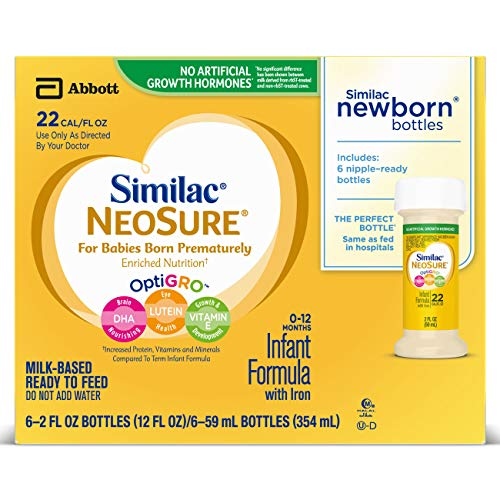 Similac NeoSure Infant Formula with Iron, For Babies Born Prematurely, Ready-to-Feed bottles, 2 ounces (48 bottles) by Similac (Image #8)