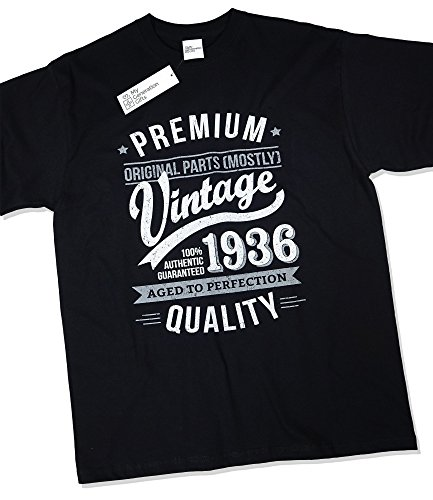 1936 Vintage Year - Aged to Perfection - 80th Birthday Gift / Present T-Shirt Mens