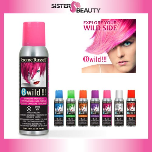 jerome russell B Wild Color Spray, Lynx Pink, 3.5 (Temporary Hair Color Spray)